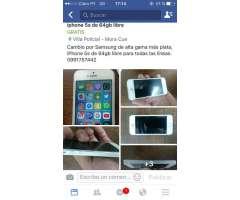 iPhone 5S de 64 Gb Libre