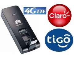 PLAN DE INTERNET LTE 4G de TIGO / CLARO. Modem HUAWEI LTE / DISFRUTA AL MAXIMO