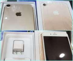 iPhone 7 de 128 gb dorado en caja sellada con garantáa escrita