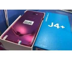 Samsung Galaxy J4 Plus con protectores antishock